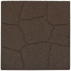 Envirotile 18 in. x 18 in. Flagstone Earth Rubber Paver-MT5000700 at The Home Depot   $1500!