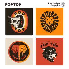 Pop Top - TheVectorLab Store Signage, Affinity Photo, Affinity Designer, Graphic Design Software, Photoshop Illustrator, Coreldraw, One Design, Graphic Design Inspiration, Logo Templates