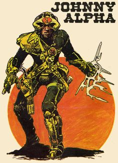 Strontium Dog : A Potted History. Part 1 of Early days, Starlord, Mergers and Origins Iconic Characters, Comic Book Characters, Comic Books Art, Book Art, Abc Warriors, 2000ad Comic, Comic Style Art, Sci Fi Comics, Judge Dredd