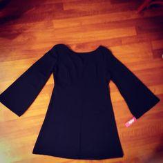 #miniabito maniche campana colore nero euro19 #valeria #abbigliamento