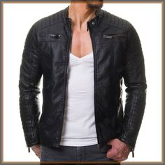 Plus Size leather jacket men Autumn Winter 2019 Vintage Casual Long Sleeve Black Leather Jacket Mens chaqueta moto hombre Plus Size Leather Jacket, Black Leather Bomber Jacket, Lambskin Leather Jacket, Biker Leather, Leather Men, Leather Jackets, Real Leather, Soft Leather, Style Brut