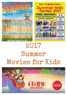 2017 Summer Movies for Kids- Each Summer I always try to prepare myself and my schedule for as many free and cheap things as possible. It seems like ages ago since we went to a movie but with these Kids Summer Movie Schedules you are sure to find some great flicks this Summer!