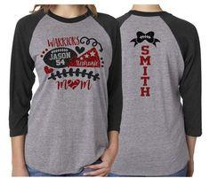 Glitter Cheer & Football Shirt Sleeve Raglan Cheer and image 0 Cheer Mom Shirts, Cheerleading Shirts, Football Mom Shirts, Football Cheer, Basketball Mom, Dad To Be Shirts, Sports Shirts, Football Banquet, Family Shirts