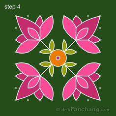 This page provides Dot Rangoli Designs and Patterns for Hindu festivals. In Tamil Nadu Rangoli is known as Kolam, Mandana in Rajasthan, Chowk Purna in Northern India, Alpana in West Bengal, Aripana in Bihar and Muggu in Andhra Pradesh. Indian Rangoli Designs, Rangoli Border Designs, Rangoli Ideas, Rangoli Designs With Dots, Rangoli Designs Images, Rangoli With Dots, Beautiful Rangoli Designs, Simple Rangoli, Lotus Rangoli