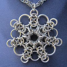 Chainmaille Snowflake Pendant.