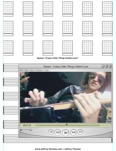 """On The Workbench: """"Crazy Little Thing Called Love"""" by Queen!  Starting the guitar tab for this classic.  Let me know if you would like free tab updates and skype review:  www.jeffrey-thomas.com"""