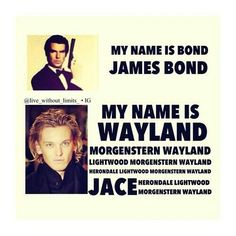 The Mortal Instruments - TMI - Jace Wayland Morgenstern Lightwood Herondale