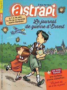 """Avec Astrapi dans le numéro 837 : -Astratop : Le journal intime d'Ernest, 10 ans, écrit pendant la seconde guerre mondiale. Un mini-roman : """"Le jour où on a eu si peur"""", d'après le dessin animé """"Les grandes vacances"""". C'est ma planète : Aboulé, l'enfant pêcheur. La recette du tiramisu tout doux."""