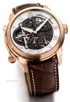 Lebeau-Courally - Le Comte Tourbillon. The first Tourbillon that has bespoke engraved in its DNA.