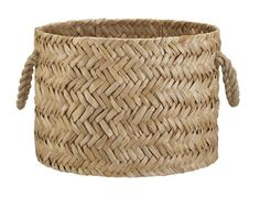 Cebu basket made of bangkuang fibers in a herringbone weave, from Crate and Barrel. This basket is in diameter, so it can hold a lot of toys, balls of yarn, or just about anything you have a lot of! Cebu, Crate And Barrel, Home Decor Baskets, Barrel Planter, Good Bones, Gifts For Photographers, Practical Gifts, Unusual Gifts, Wicker Baskets