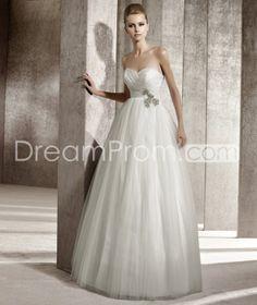 Pretty Sweetheart A-line Floor-Length Organza Wedding Dresses 2012 Spring Trends
