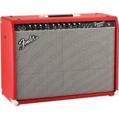 """Fender Frontman 212R FSR Limited Edition Red 100W 2x12 Guitar Combo Amp Red by Fender. $319.99. The Fender Frontman 212R solid state guitar combo amp is already worthy of the Fender nameplate, and this Limited Edition Fender Special Run version has all the tone and features that made the original a bestseller, with an exciting red finish that will make it the focal point of any stage. The Limited Edition Red Frontman 212R pumps a big 100W into two Fender Special Design 12""""..."""