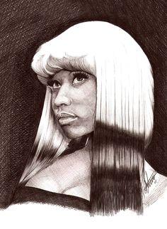Nicki Minaj Ballpoint Portrait by Craig-Stannard