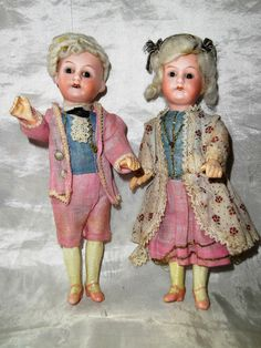 poupées mignonettes têtes en porcelaine de 18cm ARMAND MARSEILLE/marquis-e