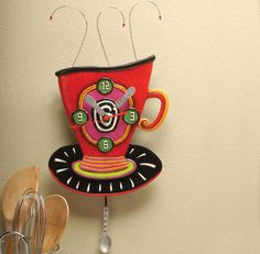 Shopping at Femail Creations - Coffee Cup Clock