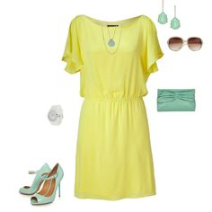 Love some butter yellow and mint green!