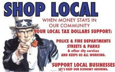 SHOP LOCAL, support small businesses!