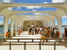 USS Arizona Memorial in Honolulu, HI (aka Pearl Harbor). One of the most somber places I've been.