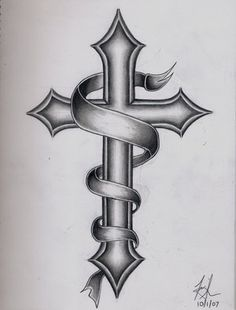 Images For > Catholic Cross Tattoo Designs For Men in catholic cross drawing collection - ClipartXtras Tribal Cross Tattoos, Cross Tattoos For Women, Cross Tattoo Designs, Cross Designs, Tattoo Designs Men, Tattoos For Guys, Cool Tattoos, Cross Tattoo Men, Celtic Cross Tattoos