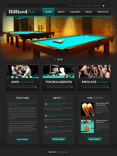 Template 46269 - Billiard Club  Responsive WordPress  Theme