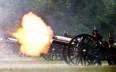 A 41-gun salute is fired by The King's Troop Royal Horse Artillery in honour of the Duke of Edinburgh's 91st birthday in London's Hyde Park. Picture: ADRIAN DENNIS/AFP/GettyImages