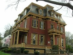 Architecture in Moorestown NJ - Perkins Center for the Arts American Colonial Architecture, Victorian Architecture, Beautiful Architecture, Victorian House Plans, Victorian Homes, Zaha Hadid, Boarding House, American Houses, Second Empire