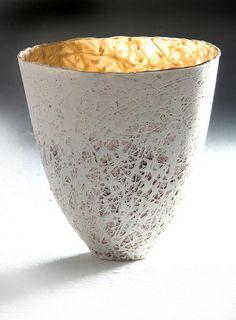 Porcelain Conical Vase by Majolandile Dyalvane, IMISO Ceramics