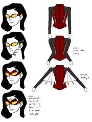 Jessica Drew's new facemask and underarm web gliders
