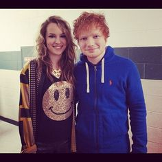 Ed Sheeran and Bridgit Mendler ooh that would be a perfect duet!! Cause her voice & his = WOW!!! <3