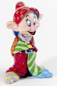 Snow White and the Seven Dwarfs - Dopey Mini Character - Romero Britto - World-Wide-Art.com - $20.00