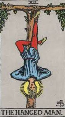 The Hanged Man Tarot card upright and reversed meaning by The Tarot Guide, Major Arcana, The Hanged Man Tarot, Tarot card meanings, The Hanged Man Tarot card, The Hanged Man Tarot meaning, The Hanged Man Tarot reading, Tarot card reading, Tarot reading,