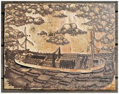 #FARMBARGE #PaulRoden #ValerieLueth #tugboatprintshop #xilogravura #woodcut
