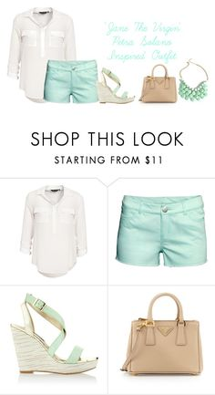 """'Jane The Virgin' Petra Solano Inspired Outfit"" by a-torres2018 ❤ liked on Polyvore featuring New Look, H&M, White House Black Market, Prada, janethevirgin and petrasolano"