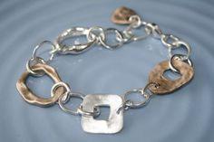 Bronze and fine silver pendant bracelet by www.orangeavocado.ca Bracelet Designs, Handcrafted Jewelry, Avocado, Bling, Bronze, Jewellery, Pendant, Bracelets, Silver