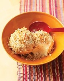 Mexican Snowballs - Martha Stewart Recipes.  I have had these a couple of times and they are soooooo delicious.  Especially as a summer treat!!