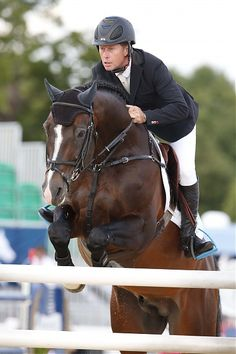 Rolf-Göran Bengtsson on Casall ASK in the €400,000 Longines Global Champions Tour Grand Prix of London.
