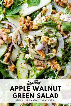 Winter Salad Recipes, Apple Salad Recipes, Green Salad Recipes, Healthy Salad Recipes, Herb Salad, Fennel Salad, Winter Green, Fall Winter, Green Apple Salad