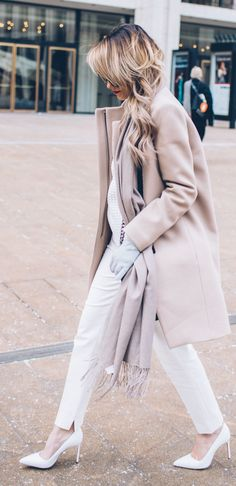 Blush And White Chic Outfit by Styled Avenue