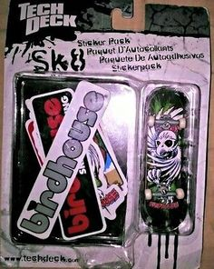 Tech Deck BIRDHOUSE Sticker Pack(5).96mm.NIP.RARE Boy Skateboard Toy