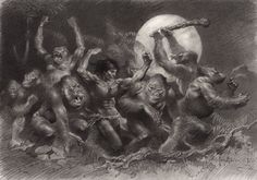 As It turned out, they were the only two drawings Frazetta would do for this Tarzan project that never got off the ground. Description from…