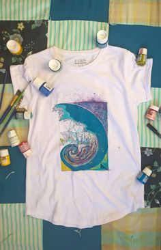 Hand painted golden ratio t-shirt