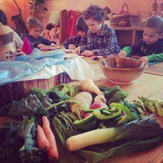 Vegetable soup making