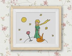 BOGO FREE! The Little Prince Cross Stitch Pattern, Needlecraft Le Petit Prince Embroidery Needlework PDF Instant Download #021-2 by StitchLine on Etsy https://www.etsy.com/listing/241951171/bogo-free-the-little-prince-cross-stitch