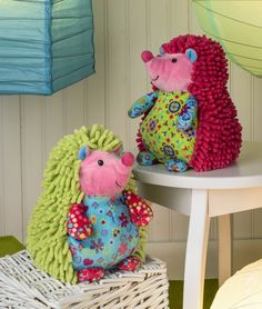 Mary Meyer's colorful Hedgehogs with fun noodle fabric.