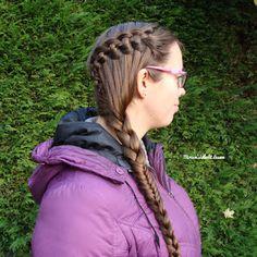 Miriam's Vlecht Lessen (Miriam's braiding instructions): 4 plukken watervalvlecht // 4 strand waterfall braid