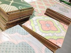 COCOCOZY: CELERIE KEMBLE FOR MIRTH STUDIO - NEW PAINTED WOOD FLOOR TILES