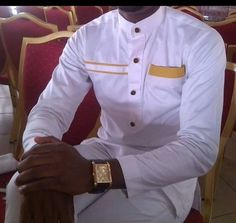 Item Overview • Handmade item • Style: Shirt and Pants • Material: Cotton, Polished Cotton, Linen • Ships worldwide from Boston  Item Details African Men Suit 2side pockets (optional) Embroidery (depends on style)   **ORDER CAN BE CUSTOMIZED** Please provide measurements for a customize orders   100% cotton, Polish Cotton, or Linen (depending on style chosen) Handmade in Ghana By MIA GH