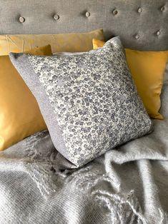Boho Pillows, Throw Pillows, Luxury Cushions, Peacock Design, Bolster Pillow, Silk Wool, Japanese Kimono, Vintage Japanese, Shades Of Grey