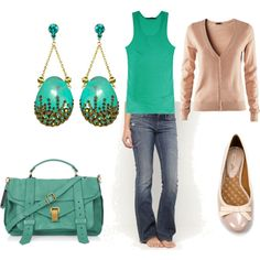 Love the fun earrings with a simple outfit