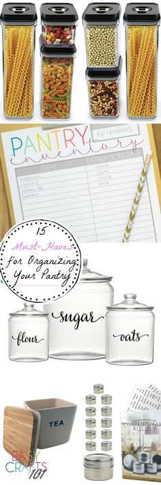 15 Must-Haves for Organizing Your Pantry - Easy Crafts 101 Easy Fall Crafts, Easy Crafts For Kids, Summer Crafts, Easy Art Projects, Diy Home Decor Projects, Diy Home Crafts, Easy Diy Gifts, Organizer, Creative